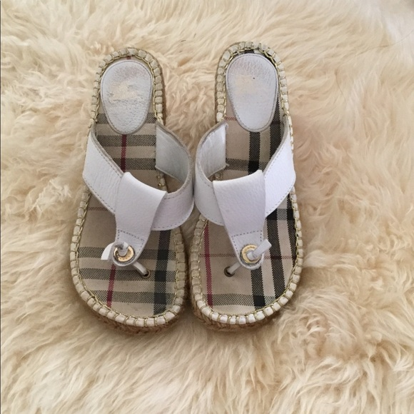 bfa29c506361 Burberry Shoes - Burberry espadrilles wedge thong sandal